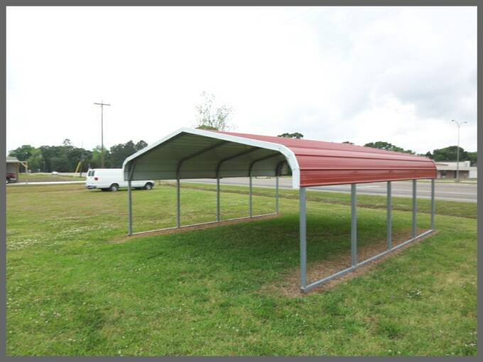 695 Metal Carports Kits : Eagle boat cover installed