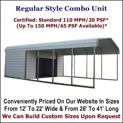Regular Style Carport With Storage